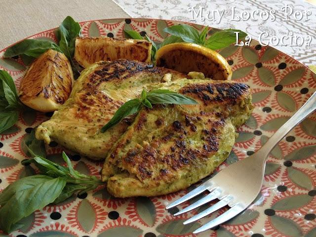Pechuga de Pollo a la plancha marinada con Albahaca y Limón