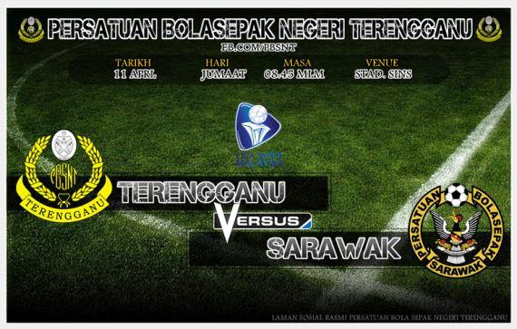 Streaming Keputusan Terengganu Vs Serawak Piala FA 1 April 2017