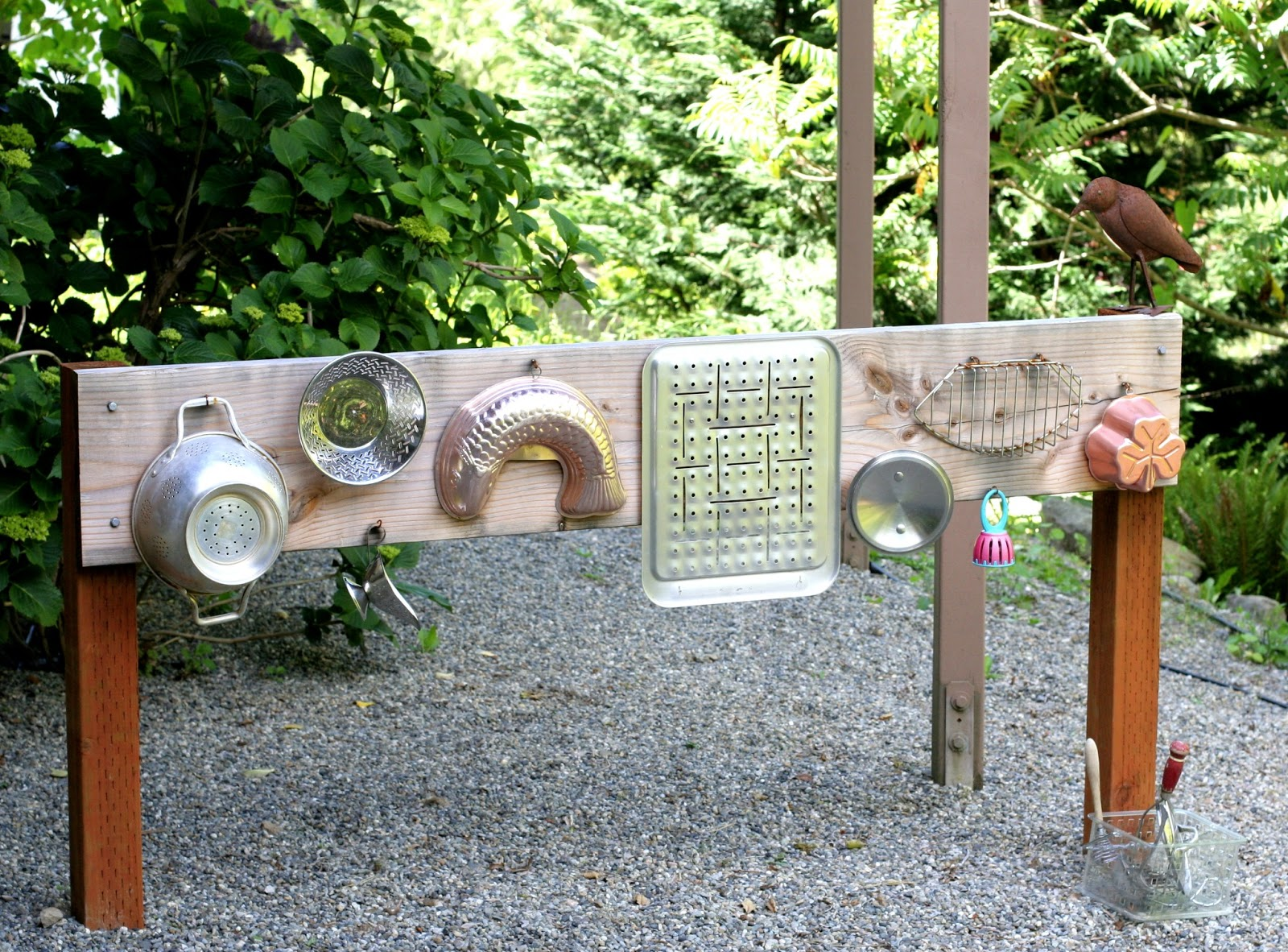 Backyard Design Diy Outdoor Sound Wall Music Station From Fun At Home With Kids