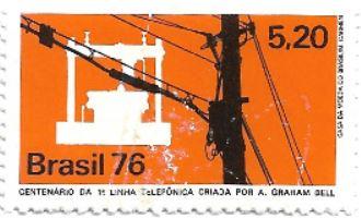 Selo centenário da primeira linha telefônica