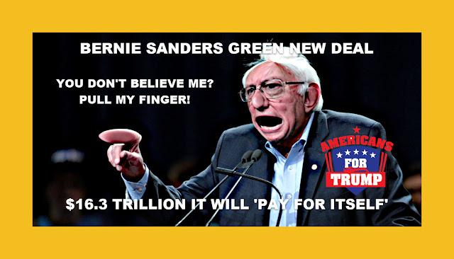 Memes: BERNIE SANDERS GREEN NEW DEAL PULL MY FINGER!