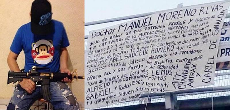 """""""El Changuito Antrax"""" del Cártel de Sinaloa deja narcomanta con advertencia en Manzanillo"""
