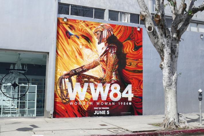 Wonder Woman 1984 WW84 wall mural ad