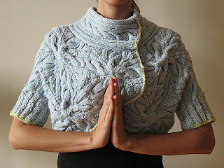 Cabled Bolero by Norah Gaughan, knit by Dayana Knits