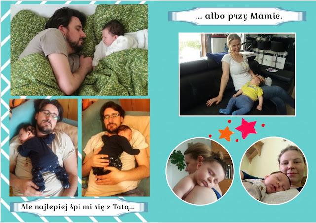 sen niemowlęcia z tatą i mamą