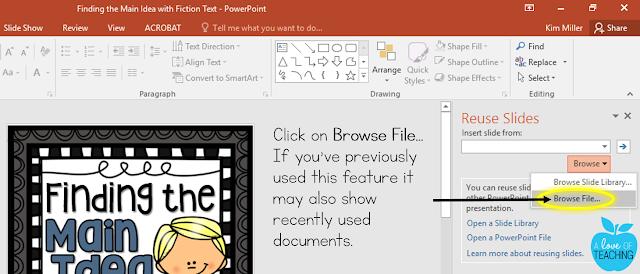 Reusing Slides in PowerPoint