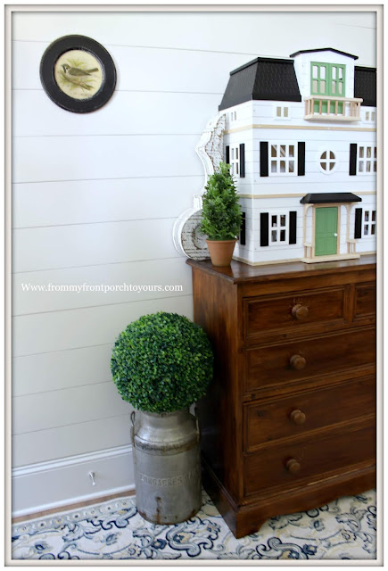 Cottage Farmhouse Foyer-Vintage Style-Hearth & Hand- Doll House-From My Front Porch To Yours