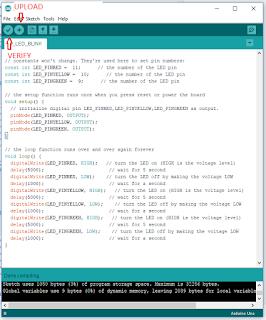 Arduino IDE code dump
