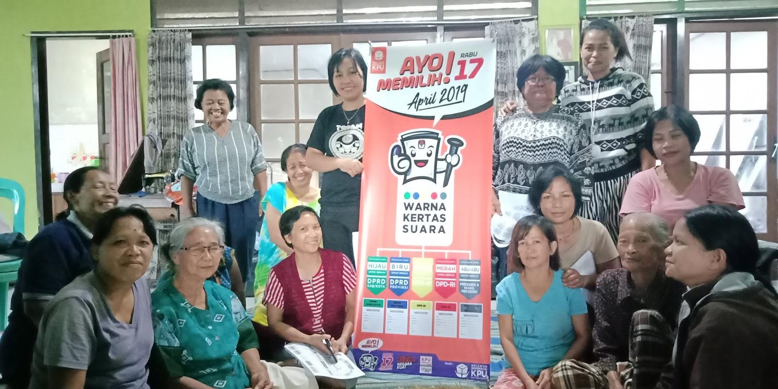 Gaungkan Info Pemilu di Kelompok Dasawisma Mekar, Relasi KPU Tana Toraja Ajak Warga Jangan Golput