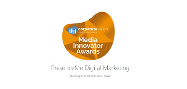 2021 SEO Experts of the year AWARD for PresenceMe Digital Marketing