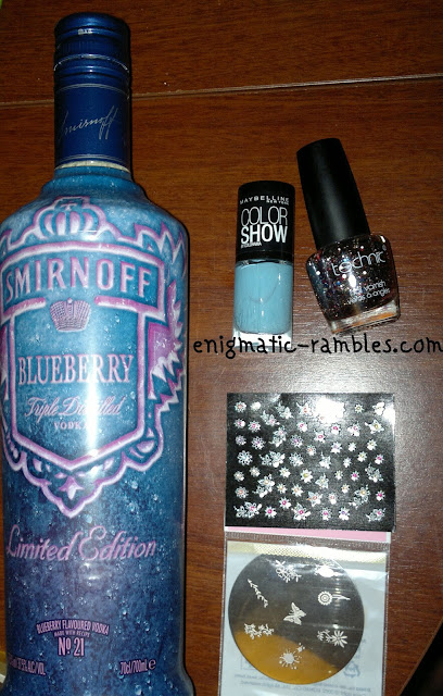 Smirnoff-Blueberry-Vodka-Nail-Stickers-Technic-carnival-maybelline-cool-blue-konad-m21
