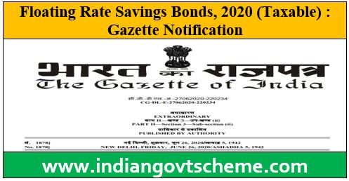 Floating Rate Savings Bonds