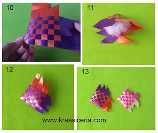 Tutorial dan cara membuat kreasi ikan dari pita kado part 2