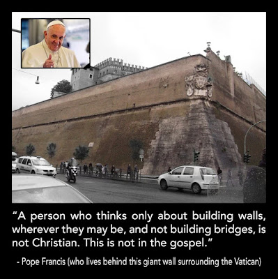 Pope Francis and Vatican Walls