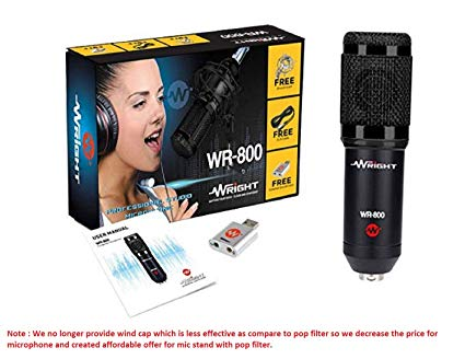 Wright-WR-800-Condenser-Microphone-with-Free-USB-Sound-Card