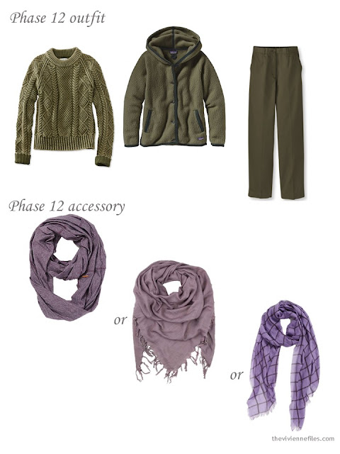 How to choose a muted purple scarf