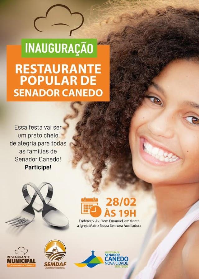 Com Show de Léo Canhoto & Robertinho Restaurante Cidadão de Senador Canedo será inaugurado nesta sexta-feira