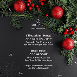Sheraton Hotel Ankara Yılbaşı Programı 2020 Menüsü