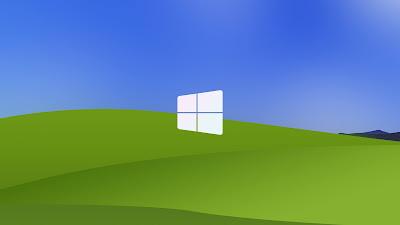 Papel de Parede Arte Minimal Logo do Windows XP