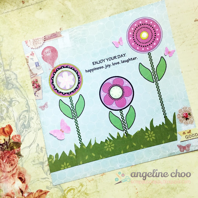 ScrappyScrappy: Flower power card #scrappyscrappy #thecuttingcafe #stamp #printable #flowers #card
