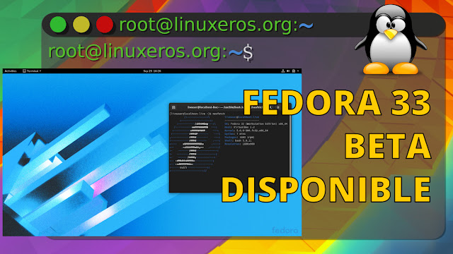 "Fedora 33 ""Beta"" Disponible"