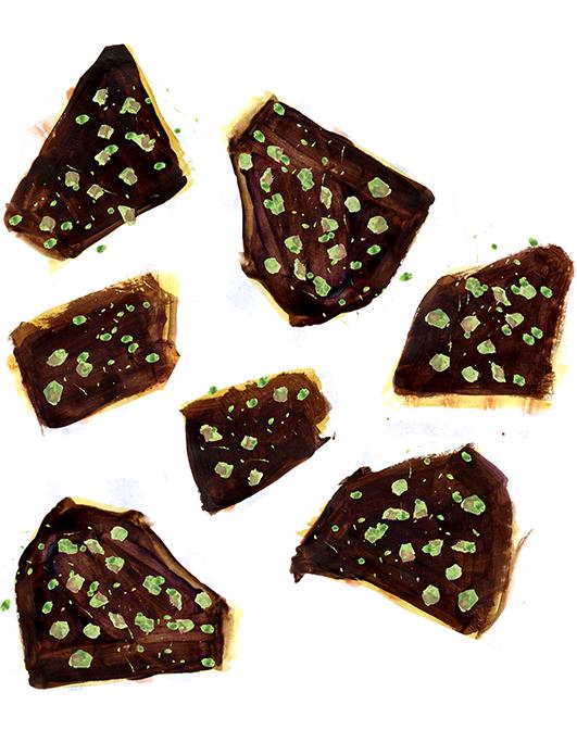 Chocolate Caramel Matzoh Crunch, Lauren Monaco Illustration