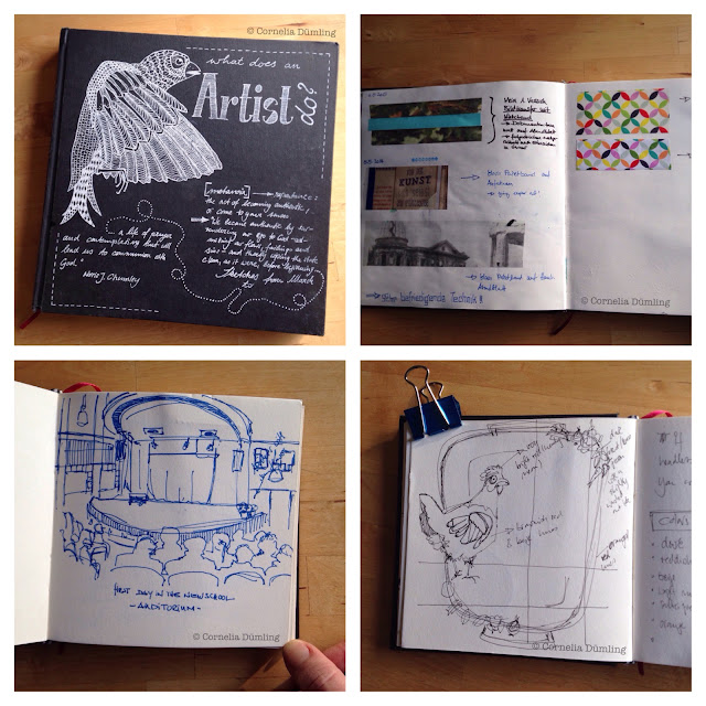 illustration, sketchbooks, Cornelia Dümling, Sketchbook Conversations, My Giant Strawberry