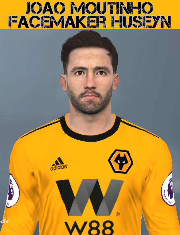PES 2017 João Moutinho (Wolverhampton Wanderers) face by Facemaker Huseyn