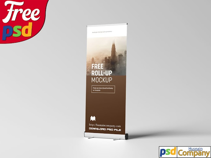Download Free Roll-up PSD Mockup #2