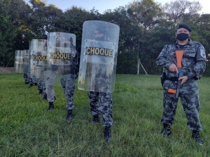 Pelotão de Força Tática de Cachoeirinha realiza instrução
