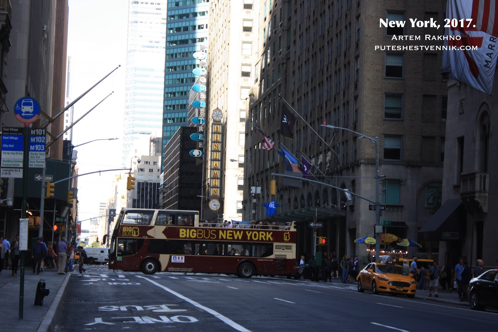 Экскурсионный автобус в Нью-Йорке
