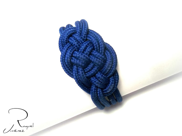 classic blue pulsera nudo marinero