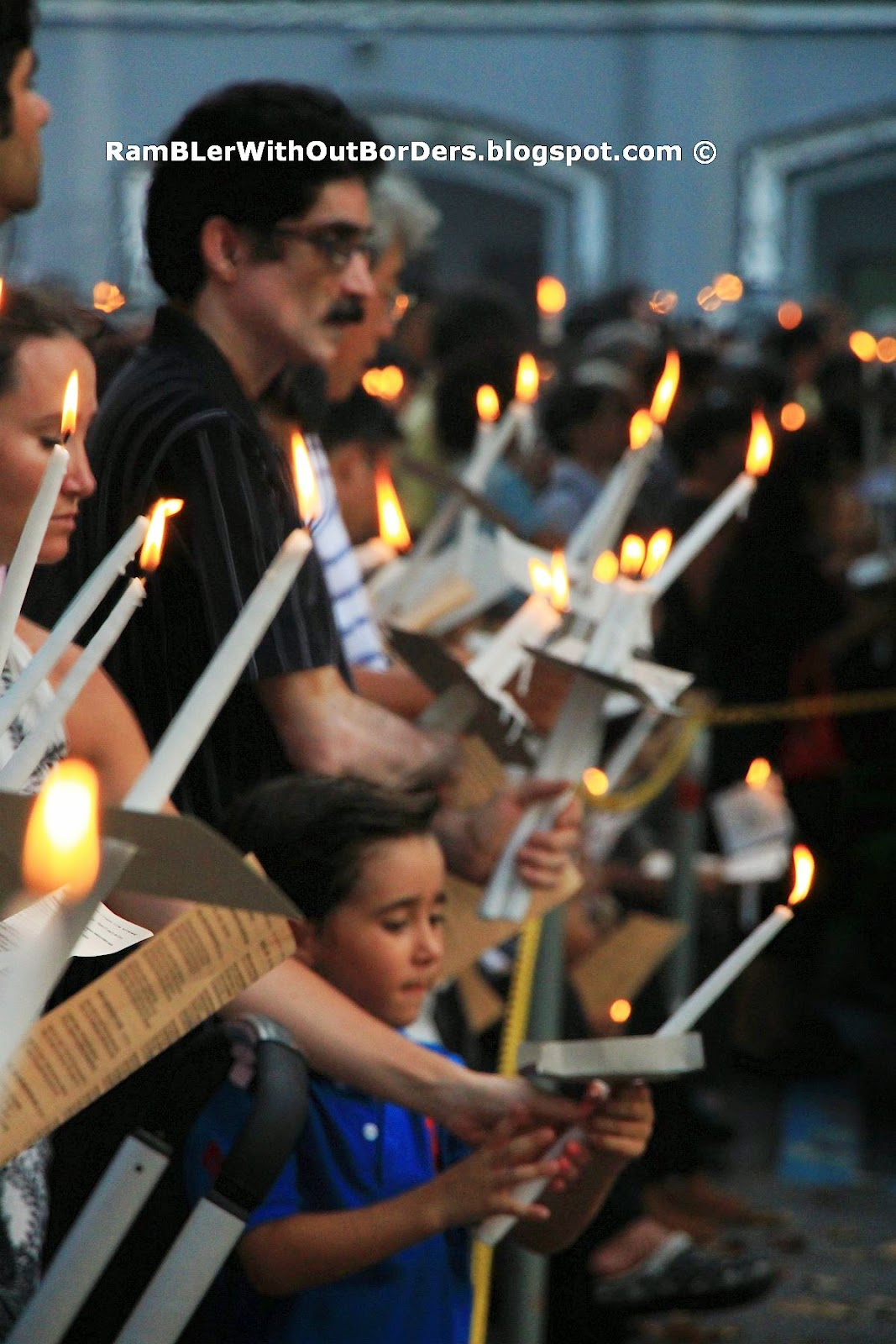 Attendants of Good Friday Candle-Light Procession, St Joseph's Church, Victoria St, Singapore