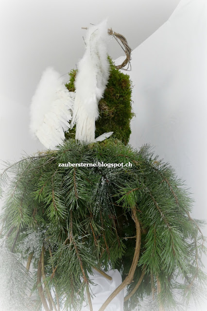 Engel selber machen, Waldfloristik, Waldkleid, Engelsgeflüster
