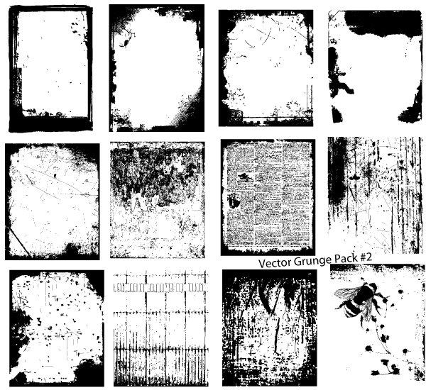 Vector Grunge Texture Pack