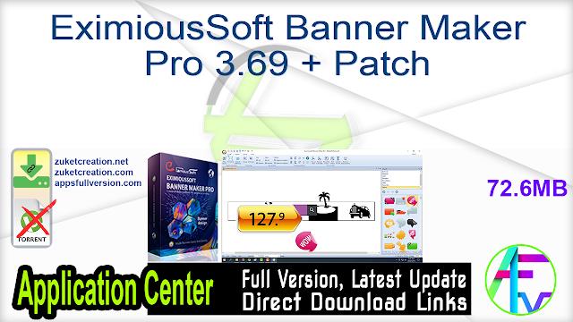 EximiousSoft Banner Maker Pro 3.69 + Patch