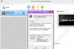 Cara Mengatasi Error Failed Open Session VirtualBox