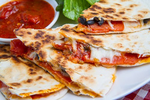 Pizza quesadillas, addition ingredients