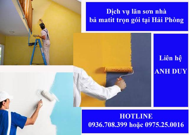 Chúng tôi chuyên nhận lăn sơn tường, bả matit trọn gói tại Hải Phòng. Cam kết sơn chính hãng, rõ nguồn gốc, không phát sinh chi phí
