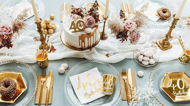 Pomysł na dekoracje na 40 urodziny - zobacz w sklepie PinkDrink.pl