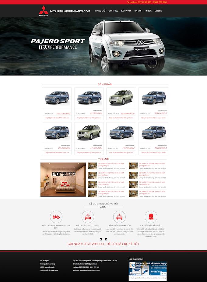 Mẫu website bán ô tô