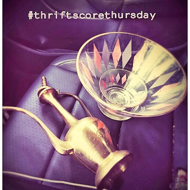#thriftscorethursday Week 41 | Instagram user: atomicview shows off this Bowl and Genie Lamp
