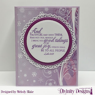 Stamp Set: Good Tidings Custom Dies: Angel, Book Fold Card with Layers, Circles, Fancy Circles, Filigree Frames, Rectangles Paper Collection: Christmas 2019