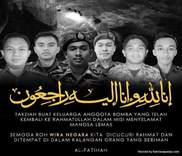 6 anggota bomba mati syahid