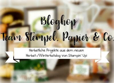 """Bloghop Team """"Stempel, Paipier & Co."""" zum Herbst mit Stampin´ Up!"""