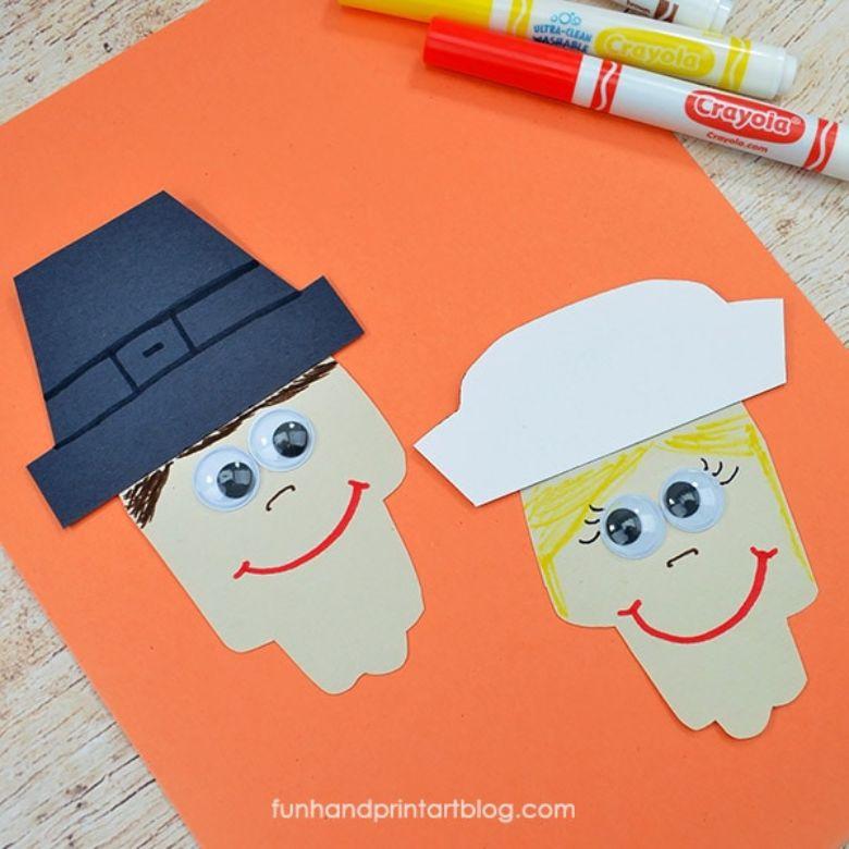 Pilgrim Thanksgiving craft for kids