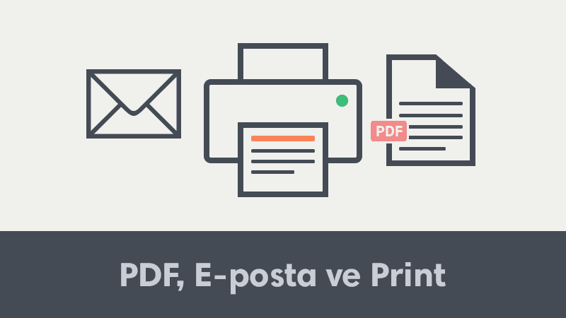 Blogger, WordPress ve Websiteleri İçin PDF, E-posta ve Yazır Butonu