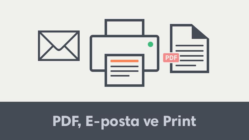Blogger, WordPress ve Websiteleri İçin PDF, E-posta ve Yazır Butonu Ekleme