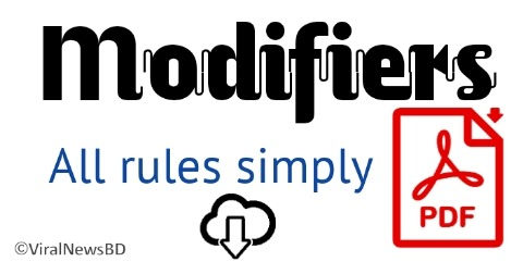 Download Modifiers all rules PDF. (Easy understand)