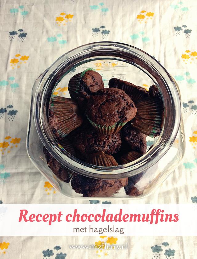 Heerlijk en makkelijk recept voor chocolademuffins met hagelslag.